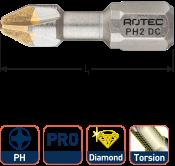 PRO Torsionbit PH 2, L=25, C6.3, DIAMOND (10 stuks)