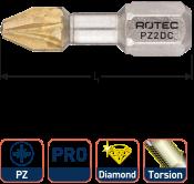 PRO Torsionbit PZ 2, L=25, C6.3, DIAMOND (10 stuks)