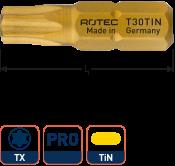 PRO Schroefbit T 8, L=25, C6.3, TIN (10 stuks)