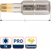 PRO Schroefbit T 15, L=25, C6.3, DIAMOND (10 stuks)