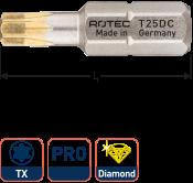 PRO Schroefbit T 40, L=25, C6.3, DIAMOND (10 stuks)