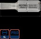 PRO Schroefbit SL 0,8x4,0, L=25, C6.3, BASIC (10 stuks)