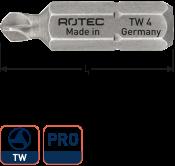 PRO Schroefbit TW2, L= 25, C6.3, BASIC (10 stuks)