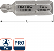 PRO Schroefbit TW6, L= 25, C6.3, BASIC (10 stuks)