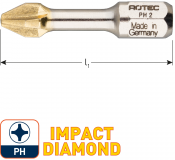 IMPACT Schroefbit PH 3, L=30, C6.3, DIAMOND (10 stuks)