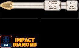 IMPACT Schroefbit PH 2, L=50, E6.3, DIAMOND (5 stuks)