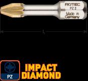IMPACT Schroefbit PZ 2, L=30, C6.3, DIAMOND (10 stuks)