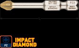 IMPACT Schroefbit PZ 3, L=50, E6.3, DIAMOND (5 stuks)