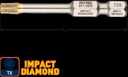 IMPACT insertbit T 30 L=50mm E 6,3  DIAMOND