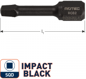 IMPACT insertbit SQD 3 L=30mm C 6,3  BASIC