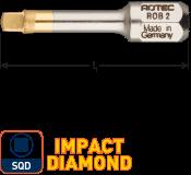 IMPACT Schroefbit SQD 3, L=30, C6.3, DIAMOND (10 stuks)