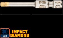 IMPACT insertbit SQD 1 L=50mm E 6,3  DIAMOND