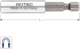 Magn.bithouder E6,3x150mm - huls 10,0x35mm, met C-ring