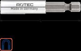 Magn.bithouder E6,3x200mm - huls 10,0x35mm, met C-ring