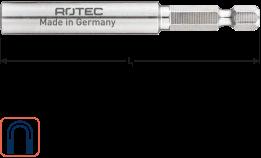 Magn.Bith RVS E 6,3x74mm C-ring 0,6x6,9mm/huls 9,6mm