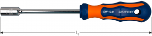 Dopschroevendraaier 2K 17,0 mm