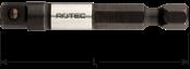 Adapter E 6,3 x 50mm x 1/4-4-kt. met kogel