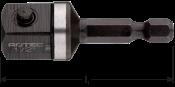Adapter E 6,3 x 50mm x 1/2-4-kt. met stift