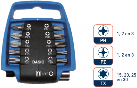 11dlg PRO Bitclip BASIC BL/ZW   PZ/PH/TX 25mm