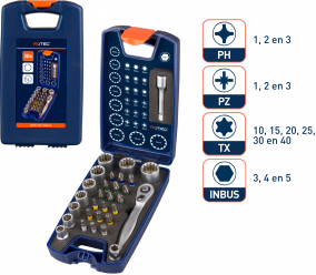 30 dlg. 1/4 Dop + Bitset 25 mm PH/PZ/TX/DOP + houder