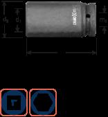 Krachtdoppen 1'' lang 22 mm