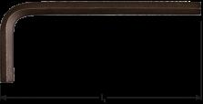 Inbussleutel kort metrisch 14,0x140mm (zwart)