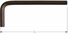 Inbussleutel kort metrisch  5,0x 80mm (zwart)