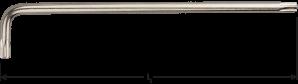 Torx® haakse sleutel lang model T 9 x  96mm (nikkel)