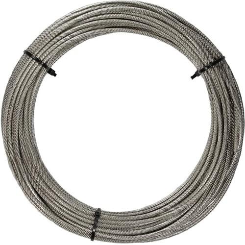 7x7 Staalkabel 3/4mm RVS-A4/PVC trans. per meter