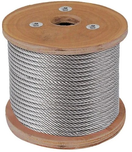 7x19 Staalkabel 6mm RVS-A4 rol a 100mtr.