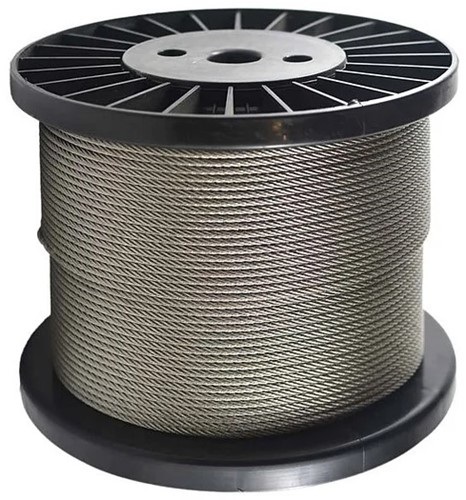 7x7 Staalkabel 3mm RVS-A4 rol a 500mtr.