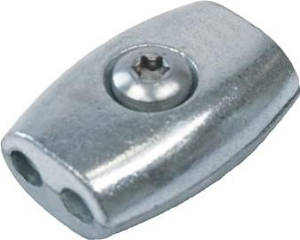 Staalkabelklem ei-vorm 6mm RVS-A4