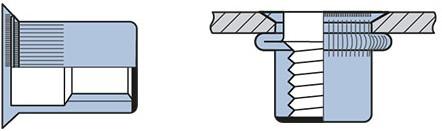 Q-Blindmoer Staal gesloten VK M4 - (1.5-3.5mm)
