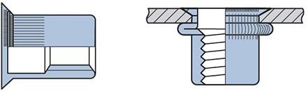 Q-Blindmoer Staal open VK M6 - [1.5-4.5mm] (250 st.)