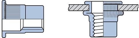 Q-Blindmoer Staal open CK M6 - [3.1-6.0mm] (250 st.)