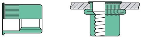 Q-Blindmoer Alu open KVK M4 - [0.5-3.0mm] (250 st.)