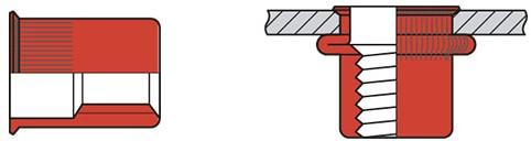 Q-Blindmoer A2 open KVK M6 - [0.5-3.0mm] (250 st.)