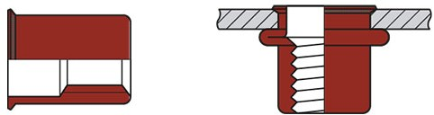 Q-Blindmoer A4 open KVK M4 - [0.5-3.0mm] (250 st.)